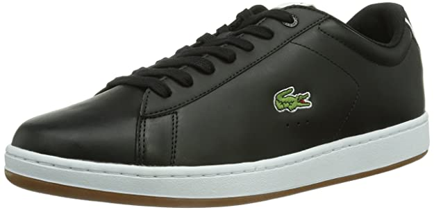 Lacoste Carnaby Evo Croc Spm Blk/Wht, Baskets mode homme, Noir (), 43 EU (9 Herren UK)