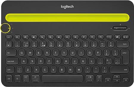 Logitech K480 Teclado Inalámbrico Multidispotivo para Windows, Disposición QWERTY US Internacional, Negro
