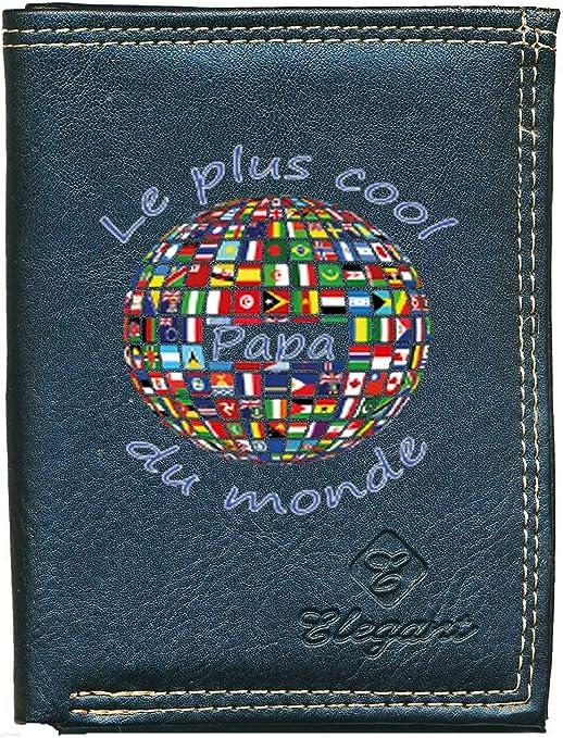 porte monnaie papiers Elu par sa fille fete des peres Petit Portefeuille Homme