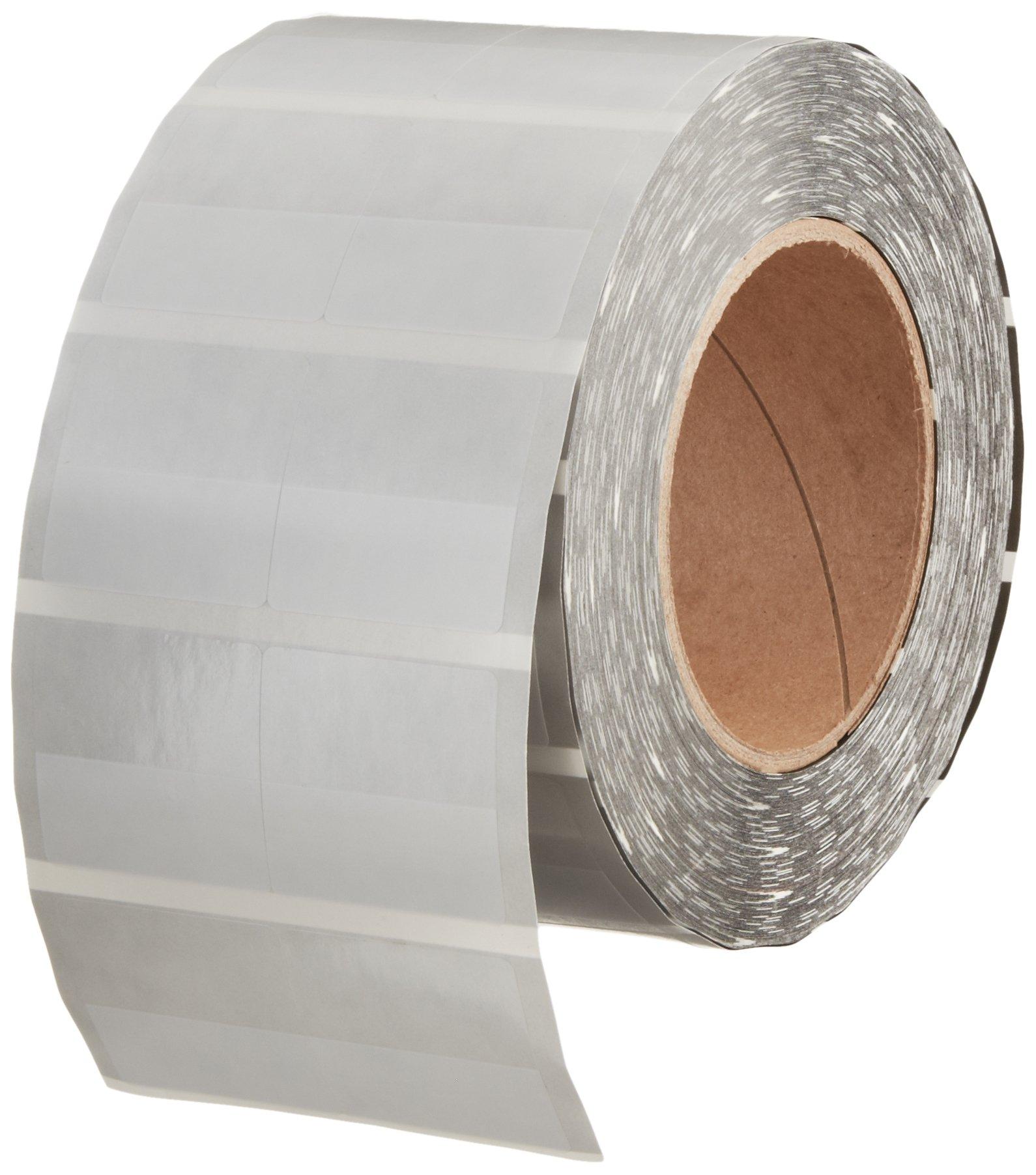 Hellermann Tyton TAG53T2-100B Thermal Transfer Self-Laminating Label, 1.5'' X .7'' X 1.437'', 2 Across, Vinyl, White  (Pack of 2500)