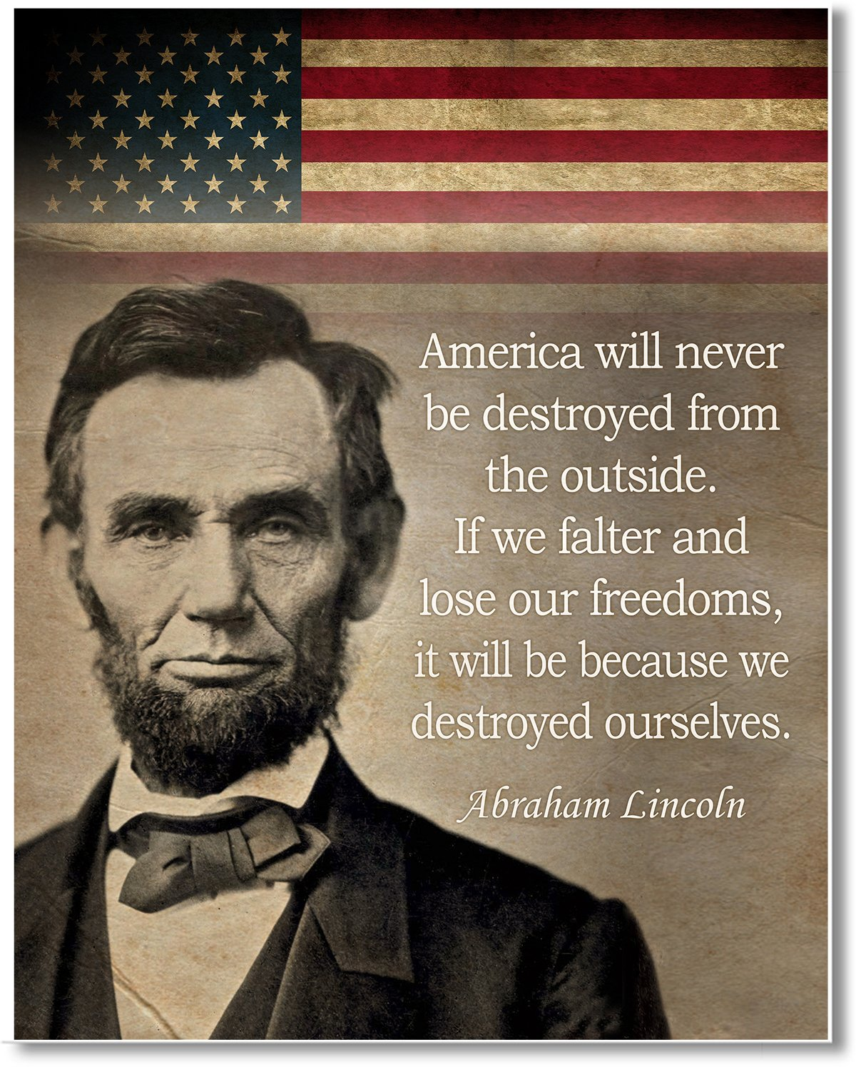 Great historic quote 11 x 14 Unframed Wall Art Print Gabbys Choice Abraham Lincoln Art print quote