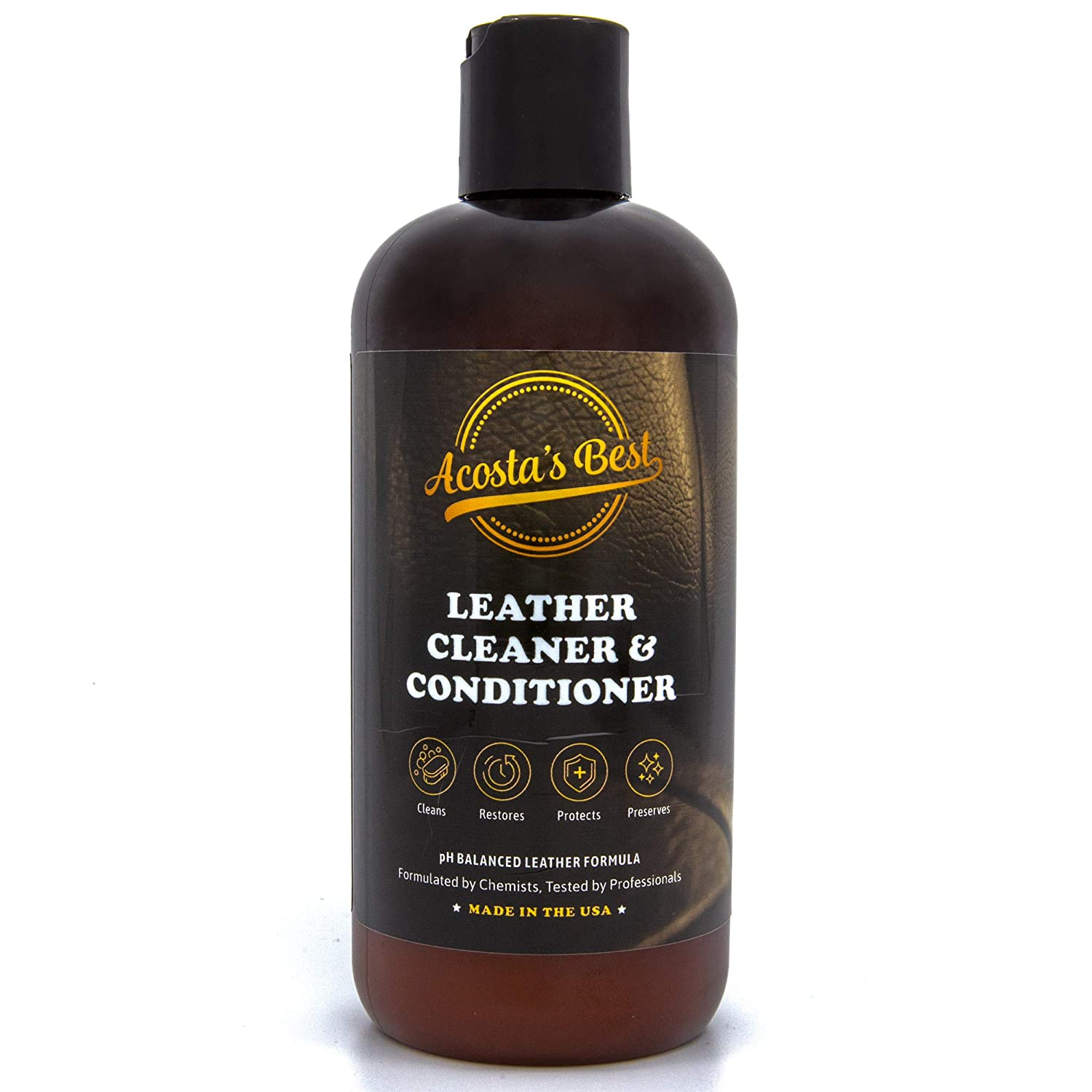Acosta\'s Best Leather Cleaner and Conditioner, Use On Car Interior, Shoes,  Bags, and Furniture. Quick and Easy To Use Bring Back Shine and Restore ...