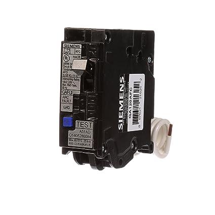 Siemens QA120AFC 20-Amp Single Pole 120-volt Plug-On Combination AFCI Breaker
