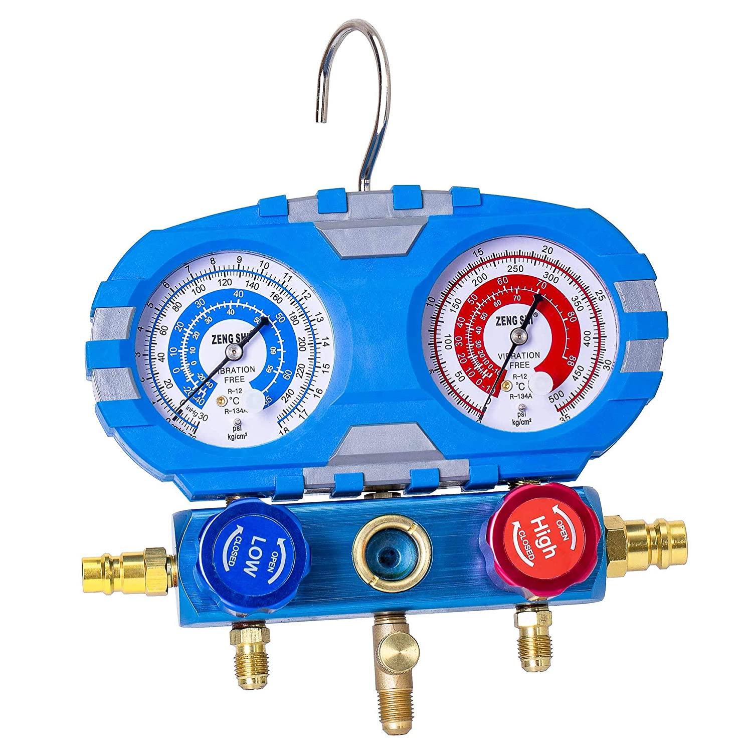 TIPLE TREE Manifold Gauge Set with 5ft 1/4 Hose for R410a R22 R134a