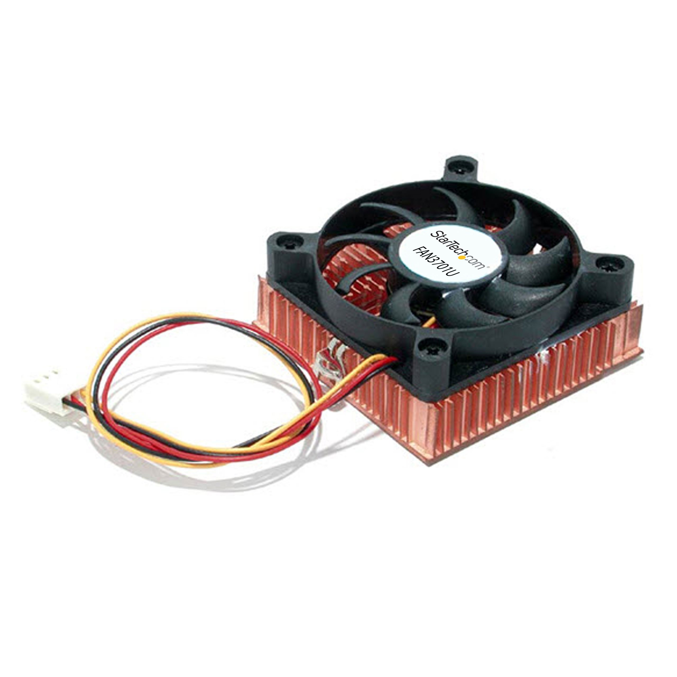 1U 60x10mm Socket 7/370 CPU Cooler Fan w/Copper Heatsink & TX3 -