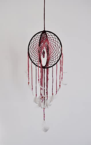 Red To Pink 40 40D Dreamcatcher Ruby Red Quartz Point Double Dream Best Dream Catcher Point