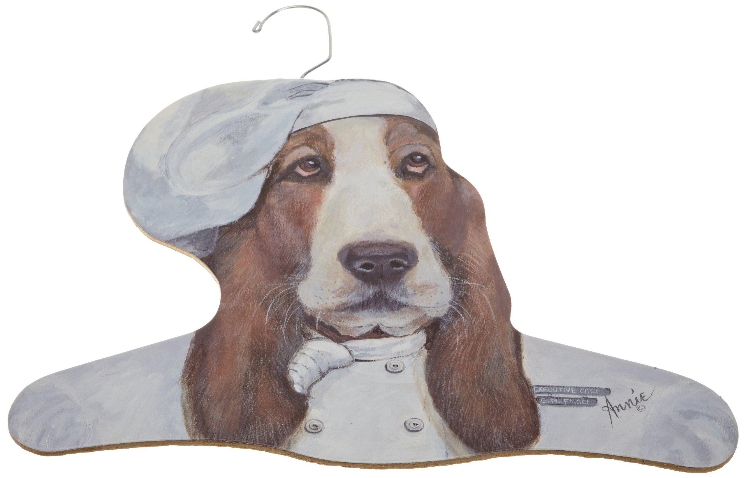 Stupell Home Décor Chef Bassett Hound Hanger, 17 x 0.4 x 11, Proudly Made in USA