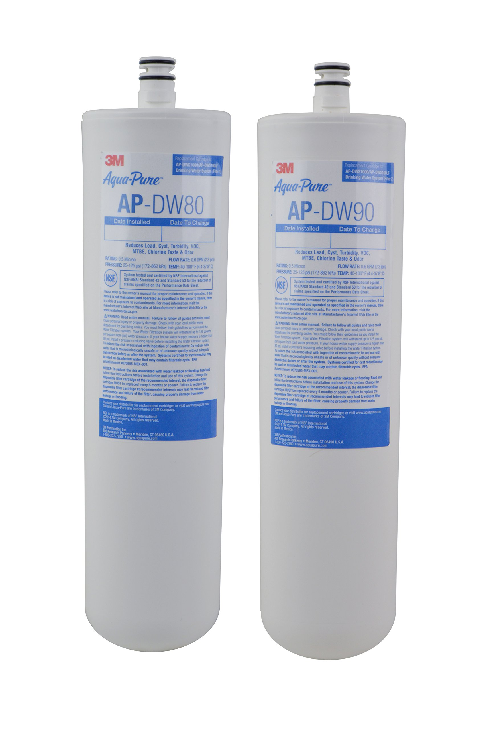 3M Aqua-Pure Under Sink Replacement Water Filter – Model AP-DW80/90 by 3M AquaPure