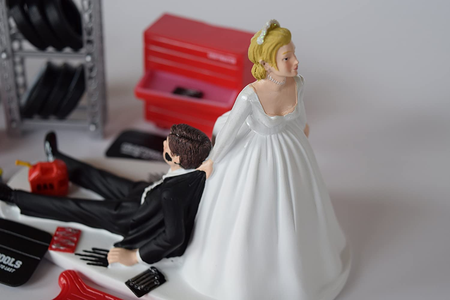 Amazon Funny Wedding Cake Topper For Mechanics Comes With