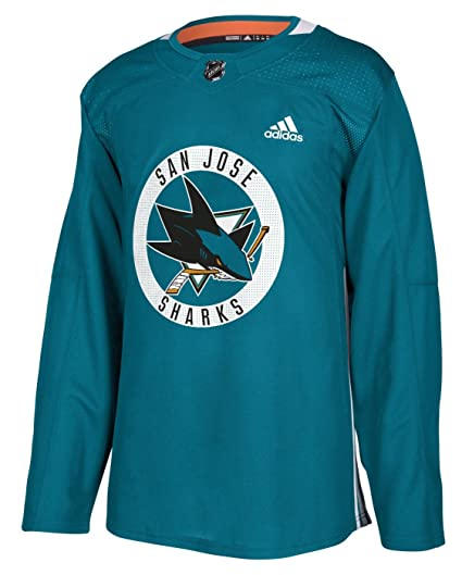 reputable site 29d53 f4b6f ... cheap san jose sharks adidas nhl mens climalite authentic practice  jersey 359b9 5213d