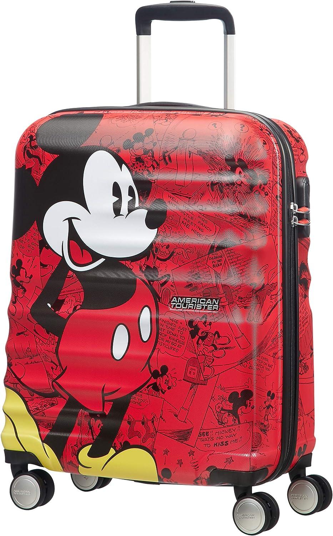American Tourister Disney Wavebreaker - Maleta Infantil, Spinner S (55 cm - 36 L), Multicolor (Mickey Comics Red)