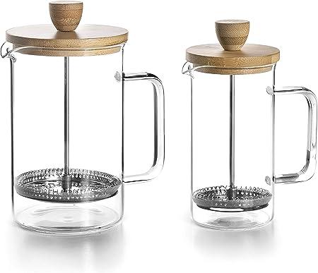Lacor 62168 Cafetera Francesa Wood, 6 Tazas, 080 litros, Acero 18/10: Amazon.es: Hogar