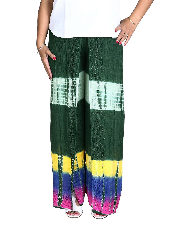 Ausgefallene Sommerhose aus Rayon Besticktes Batik Muster