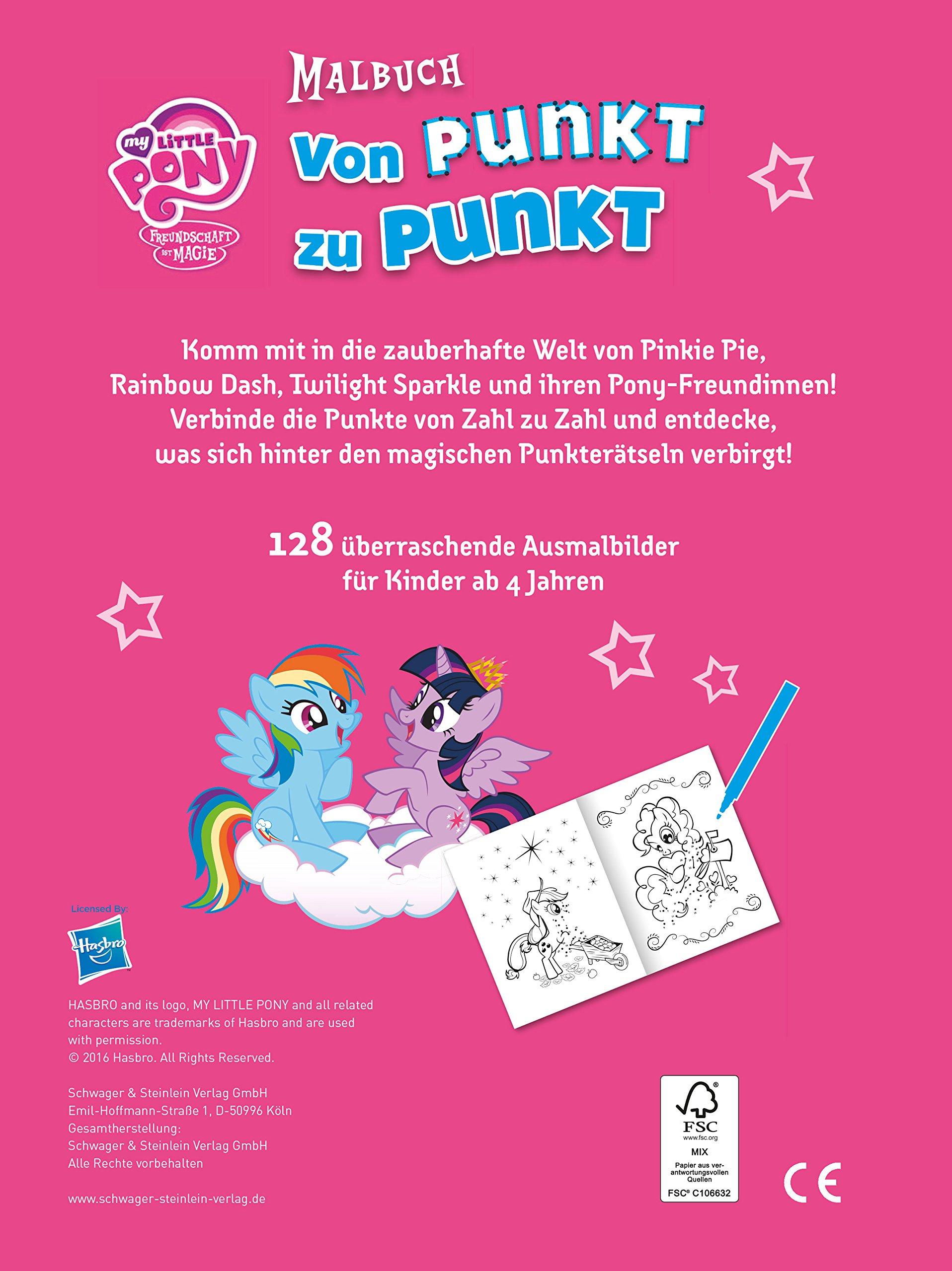 My Little Pony Von Punkt Zu Punkt Malbuch Amazon De Bücher