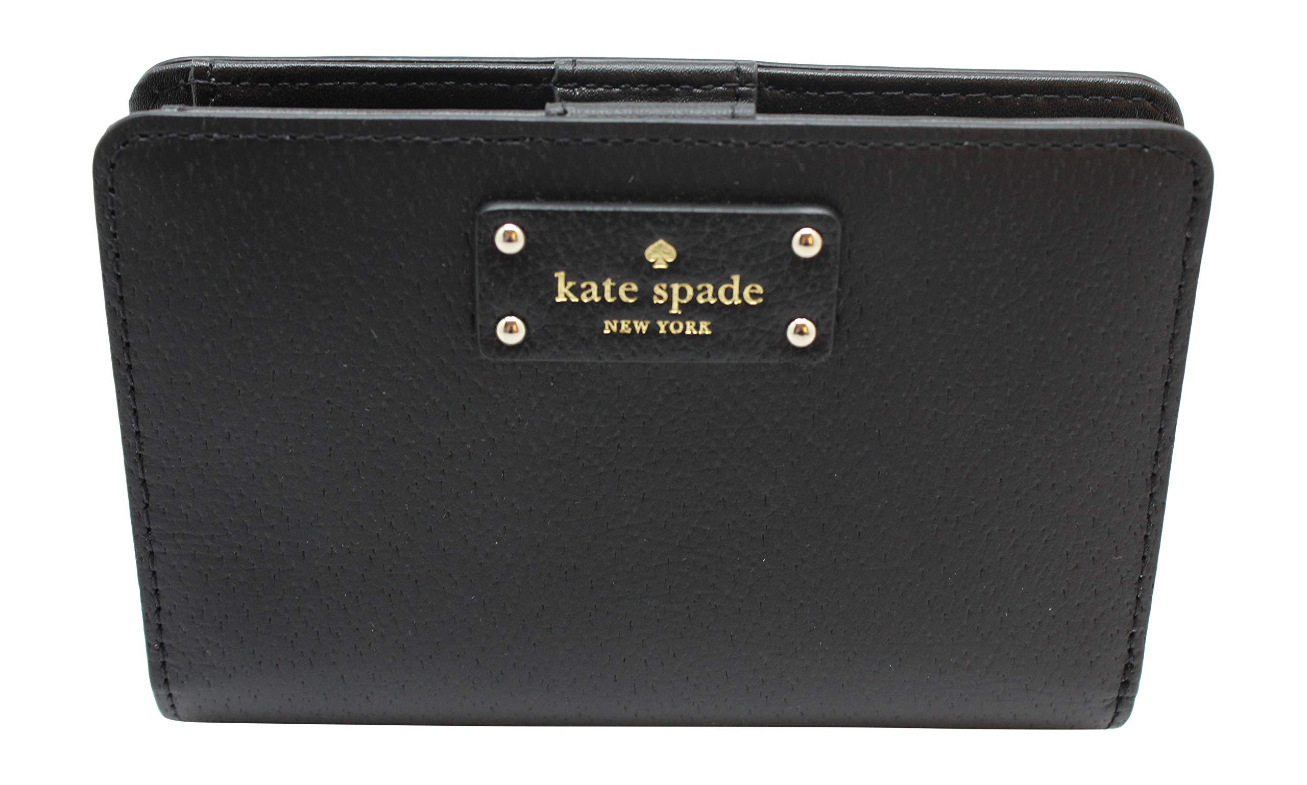 Kate Spade New York Tellie Grove Street Embossed Leather Wallet (Black)