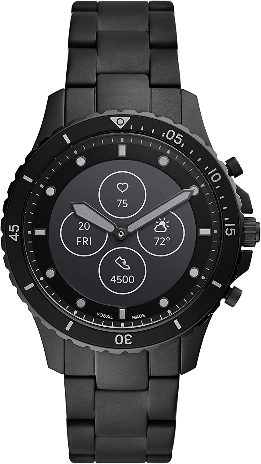 Fossil Men's FB Fossil Blue Hybrid Smartwatch HR with Always-On Readout Display, Heart Rate, Activity Tracking, Smartphone Notifications, Message Previews