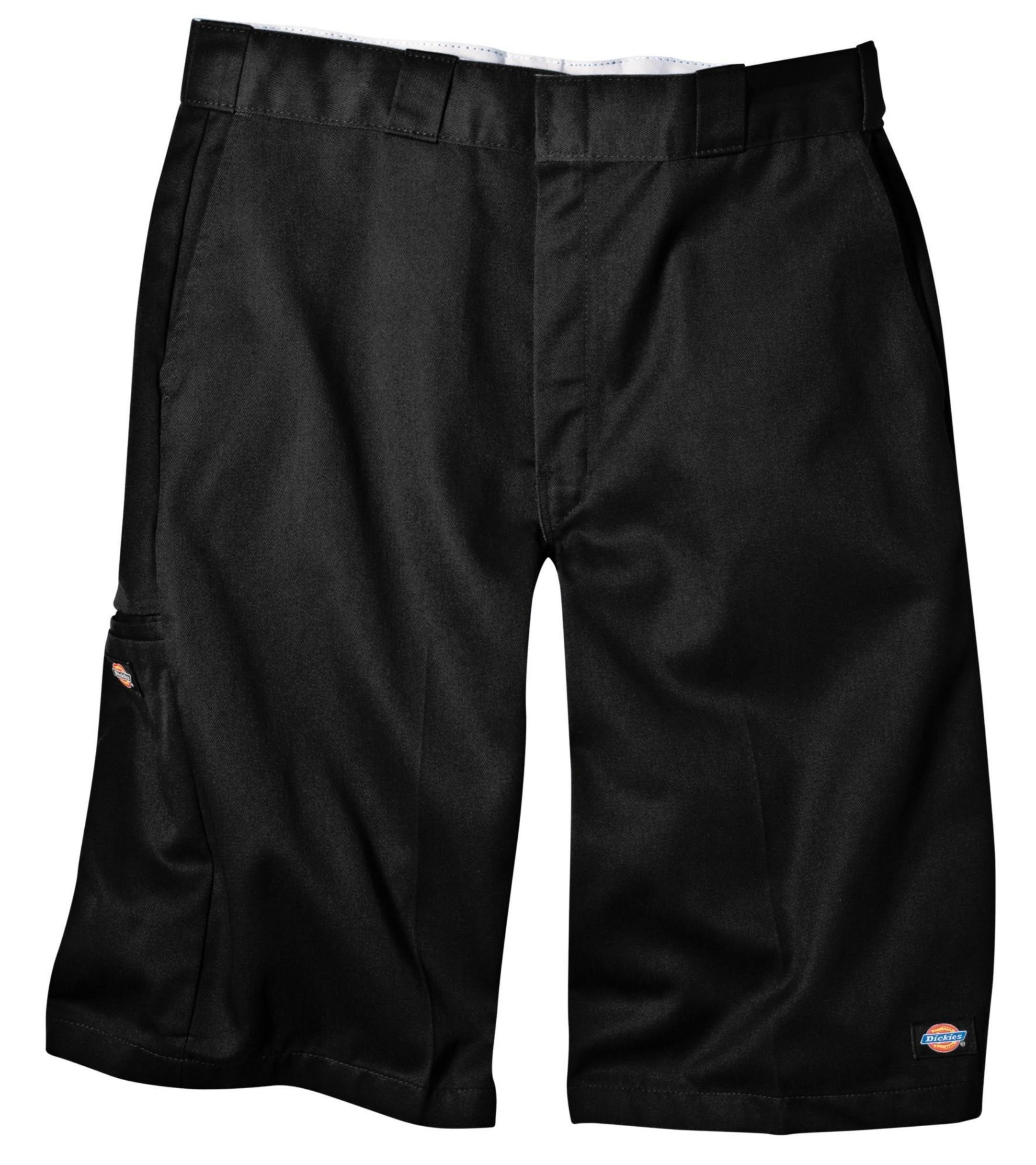 Dickies Men's 13 Inch Loose Fit Multi-Pocket Work Short, Black, 36