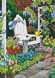 Toland Home Garden Gardener's Heaven 12.5 x 18 Inch Decorative Spring Summer Gardening Flower Adirondack Garden Flag
