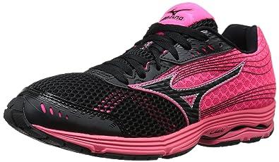 competitive price 68a3a 8dfdf Mizuno Women s Wave Sayonara 3 Running Shoe, Black Neon Pink, ...