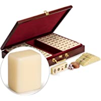 "Numbered Tiles and Wooden Case Mahjong Set - ""Classic Set"" - Standard"