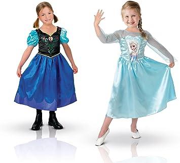 Rubies Frozen - Disfraz Anna y Elsa - Talla M: Amazon.es: Juguetes ...