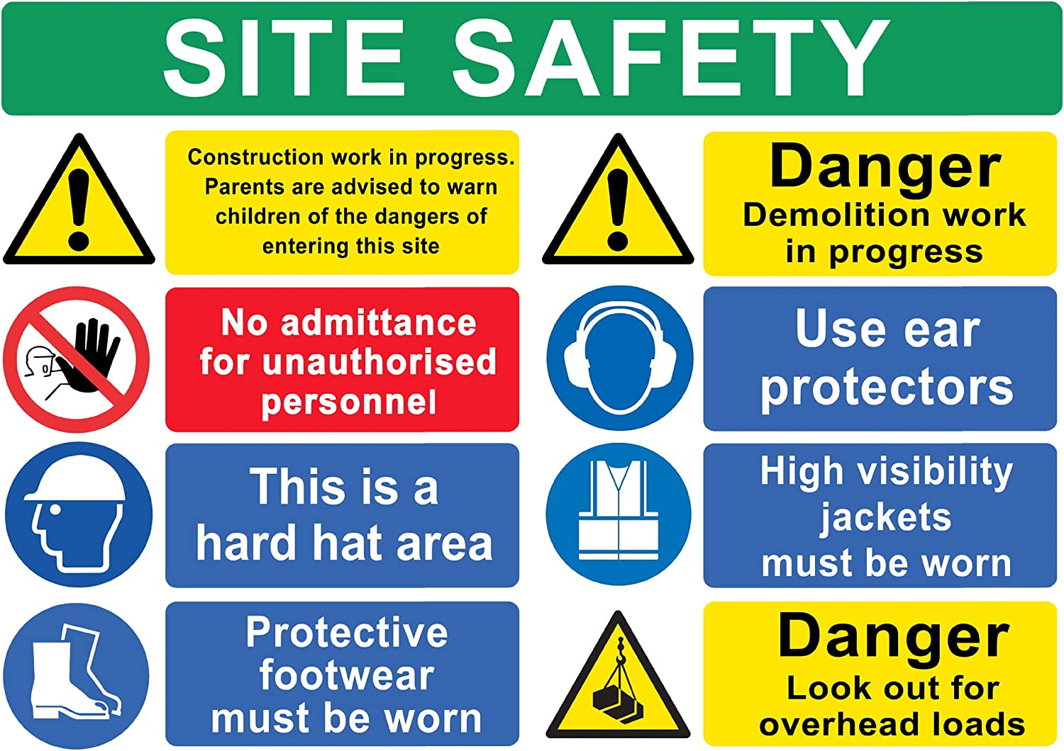Hearing protection must be worn A3 1mm Rigid Plastic Safety Sign