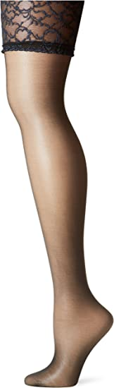Berkshire Womens Plus-Size Queen Silky Sheer Sexyhose Stockings 1361