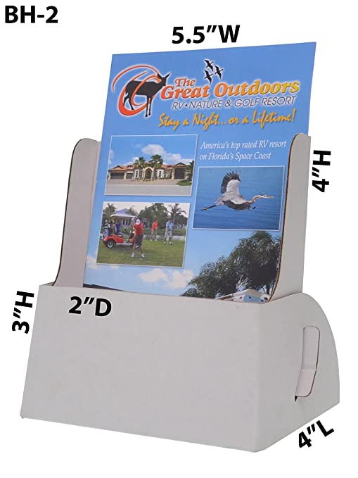 amazon com marketing holders pamphlet holder holds 5 3 4 x 9