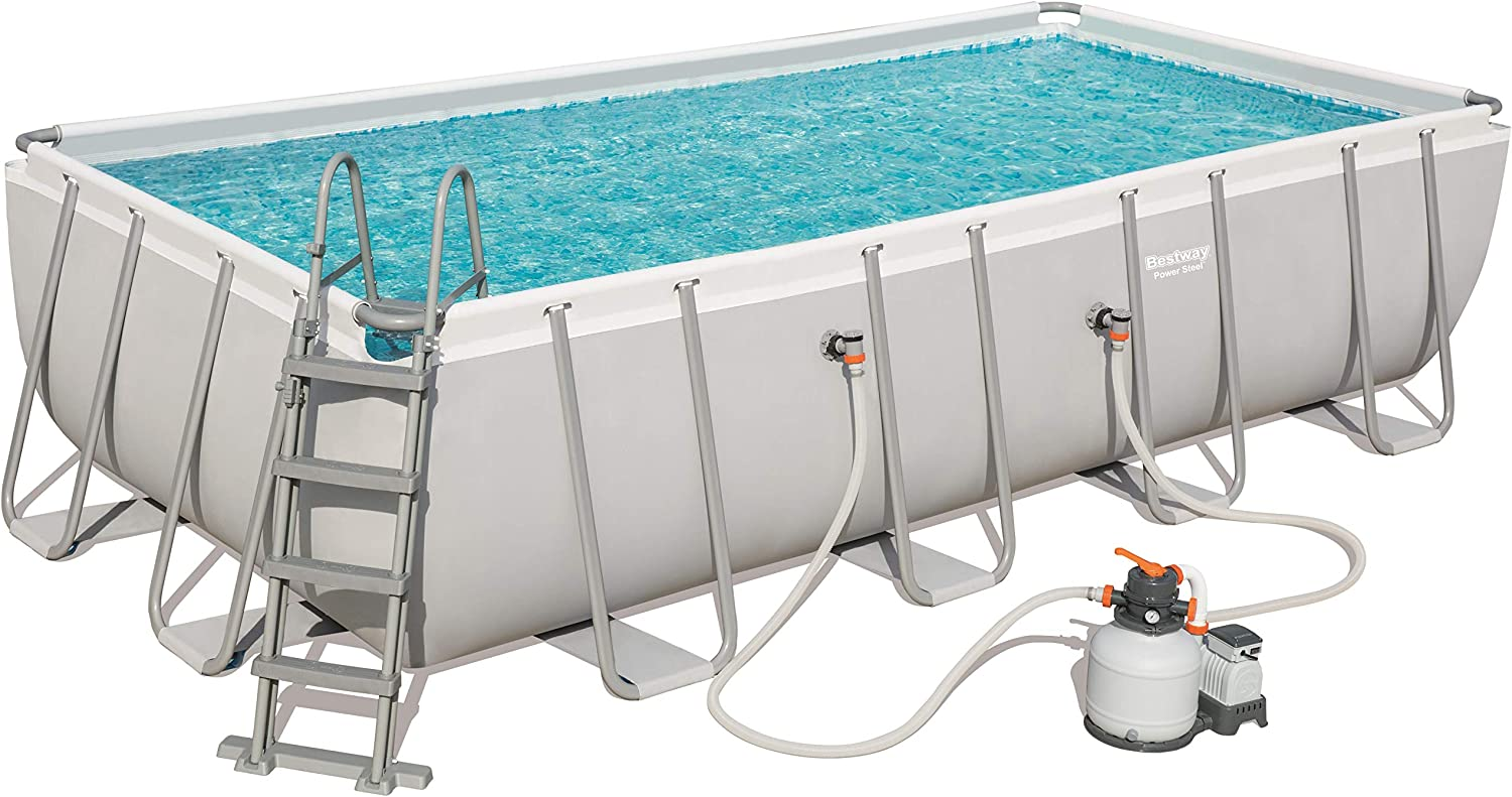 Bestway 56466 Power Steel Rectangular Pool 549 x 274 x 122 cm ...