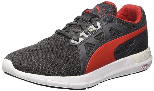 d2c77ebad985 Puma Men s Nrgy Dynamo Asphalt-Flame Scarlet Running Shoes-10 UK India (