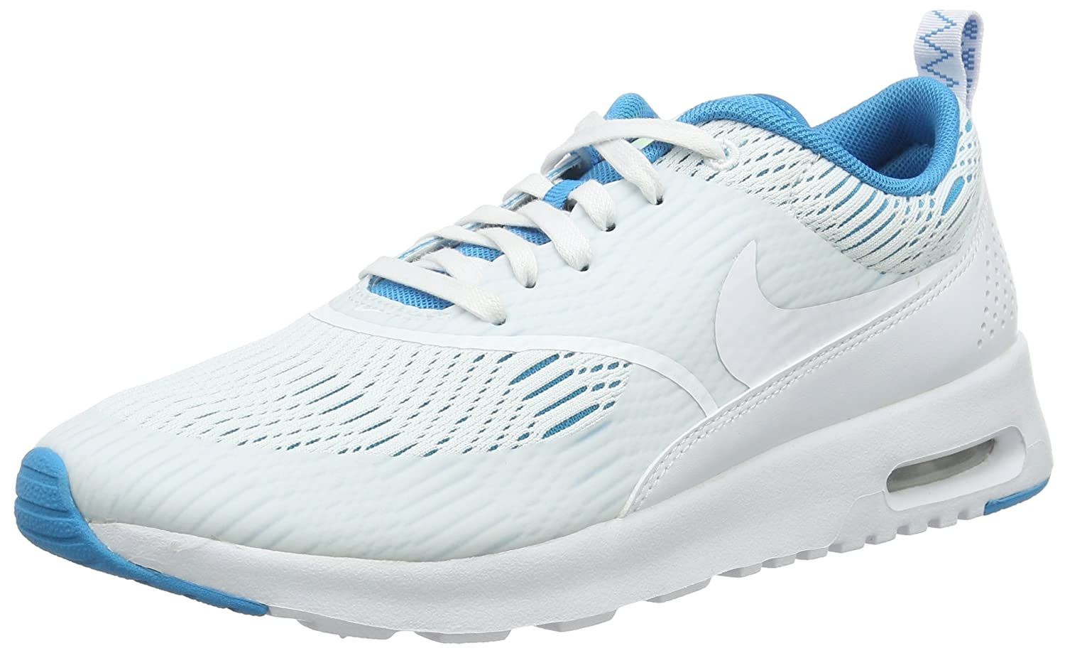 NIKE Women's Air Max Thea Low-Top Sneakers, Black B00890SY1A 11 B(M) US|White/Blue Lagoon/Ghost Green