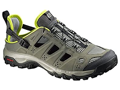 Salomon Men's Evasion Cabrio Outdoor Sandals Tempest / Verdi Grey / Gecko  Green 7.5 and Spare
