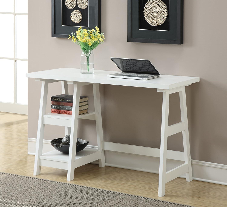 Delicieux Amazon.com: Convenience Concepts Designs2Go Trestle Desk, White: Kitchen U0026  Dining