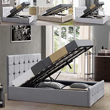Marvelous Home Valentina King Size Ottoman Bed 5Ft Bed Frame Storage Gmtry Best Dining Table And Chair Ideas Images Gmtryco