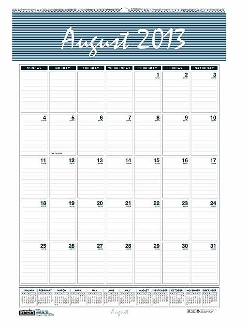amazon com house of doolittle bar harbor academic monthly wall