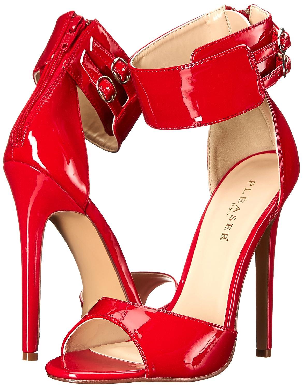 Pleaser Women's SEXY19/R Dress Sandal B00MH2KGE4 11 B(M) US|Red Patent