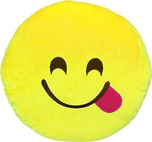 Emoji Face Savoring Delicious Food Plush, Large