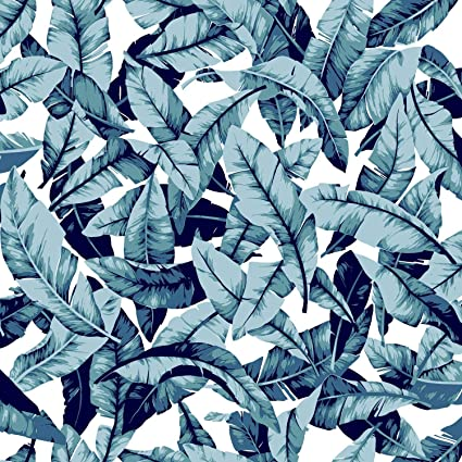 Roommates Blue Palm Peel And Stick Wallpaper