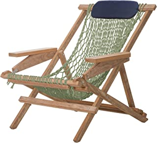 product image for Nags Head Hammocks Cumaru Captain's Chair, Meadow DuraCord