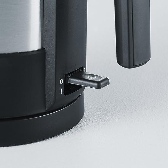 Severin 3369 - Hervidor (1,5 L, 1800 W), color negro/acero mate: Amazon.es: Hogar