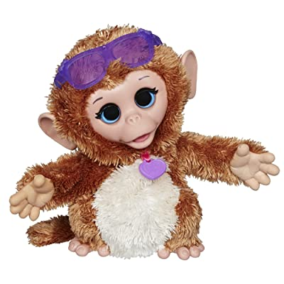 FurReal Friends Baby Cuddles My Giggly Monkey Pet Plush: Toys & Games
