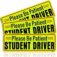 BOKA Student Driver Magnet for Car, Enhanced Magnetic New Driver Safety Signs, Reflective Rookie Novice Vehicle Bumper…