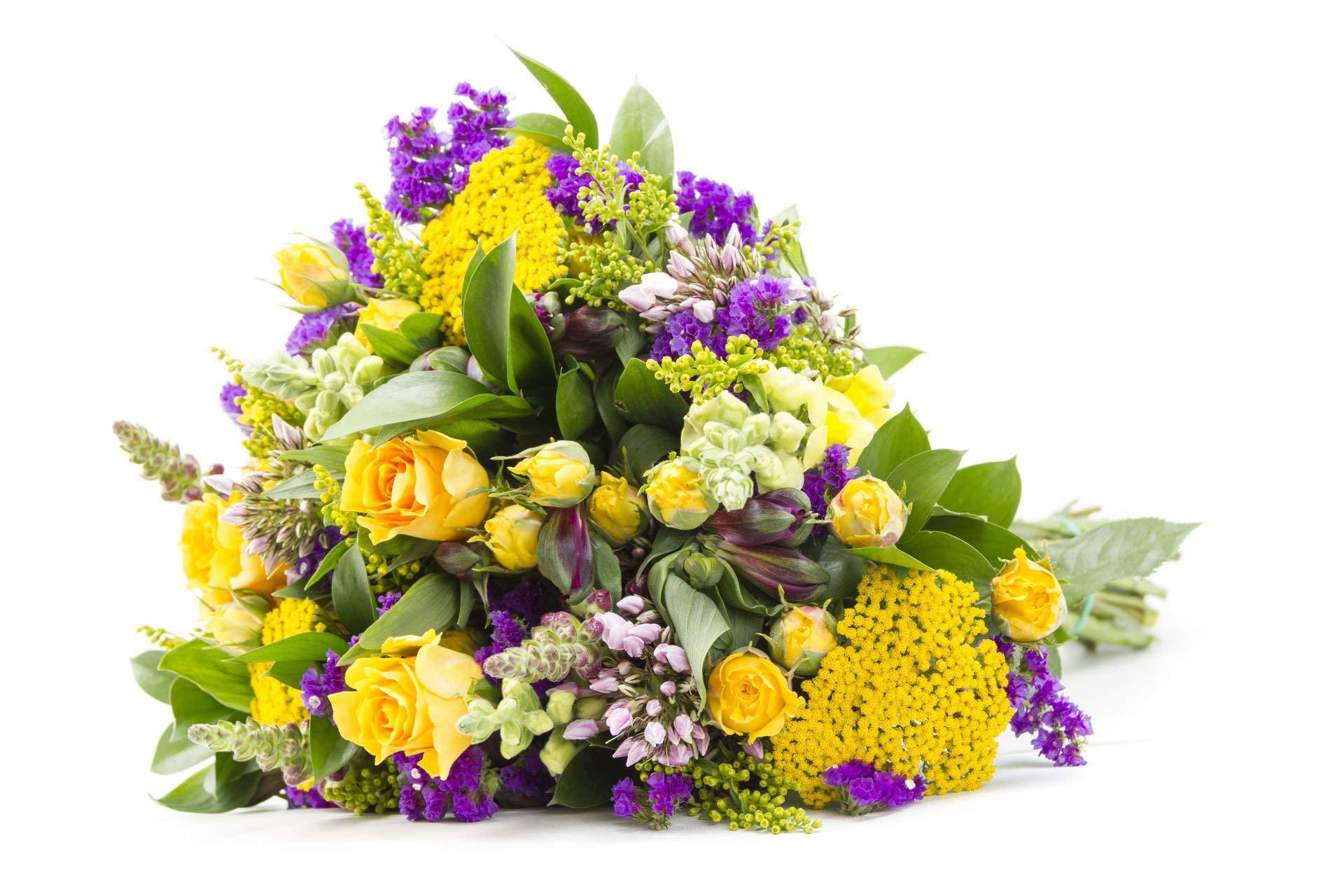 Chichi Party Purple and Yellow Flowers with Roses, Snapdragons, and More Sustainably Grown and Harvested, No Vase Included by BloomsyBox (Image #2)