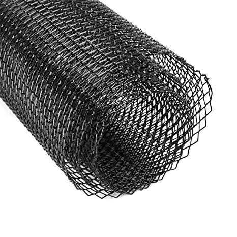 Amazon.com: uxcell Universal Car Auto Black Aluminum Alloy Rhombic Grille Mesh Net Sheet 12 x 6mm: Automotive
