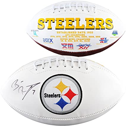 online store f9848 a011f Ben Roethlisberger Pittsburgh Steelers Autographed White ...