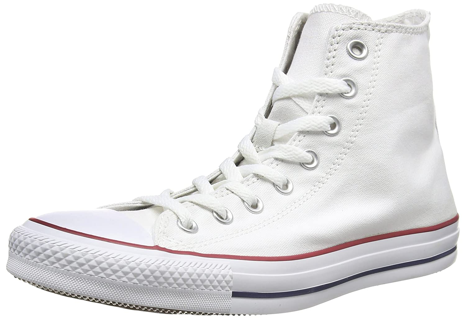 Converse Unisex Chuck Taylor All-Star High-Top Casual Sneakers in Classic Style and Color and Durable Canvas Uppers B01M0GJ5KF 39-40 M EU / 8.5 B(M) US Women / 6.5 D(M) US Men|Optical White