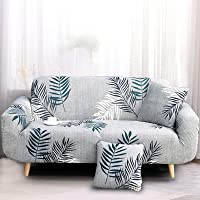 Ufurniture Printed Sofa Cover Stretch Couch Cover Slipcovers for 1 Seater, Washable Universal Furniture Protector for…