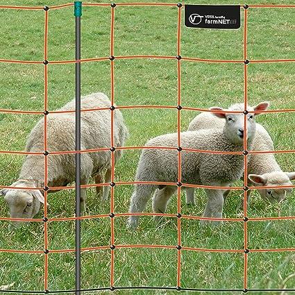 Malla eléctrica para ovejas farmNET, Rollo de 50m de Longitud y 90cm de Altura,