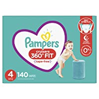 Diapers Size 4, 140 Count - Pampers Pull On Cruisers 360° Fit Disposable Baby Diapers...
