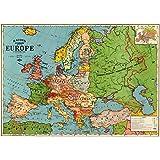 Cavallini Papers Co Rouleau de Papier cadeau Motif carte de l'Europe